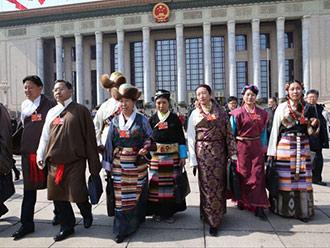 西藏代表以饱满的政治热情参会