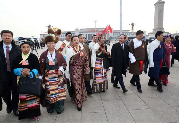 Deputies from Tibet to the NPC annual session