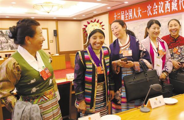 Female grassroots deputies from Tibet
