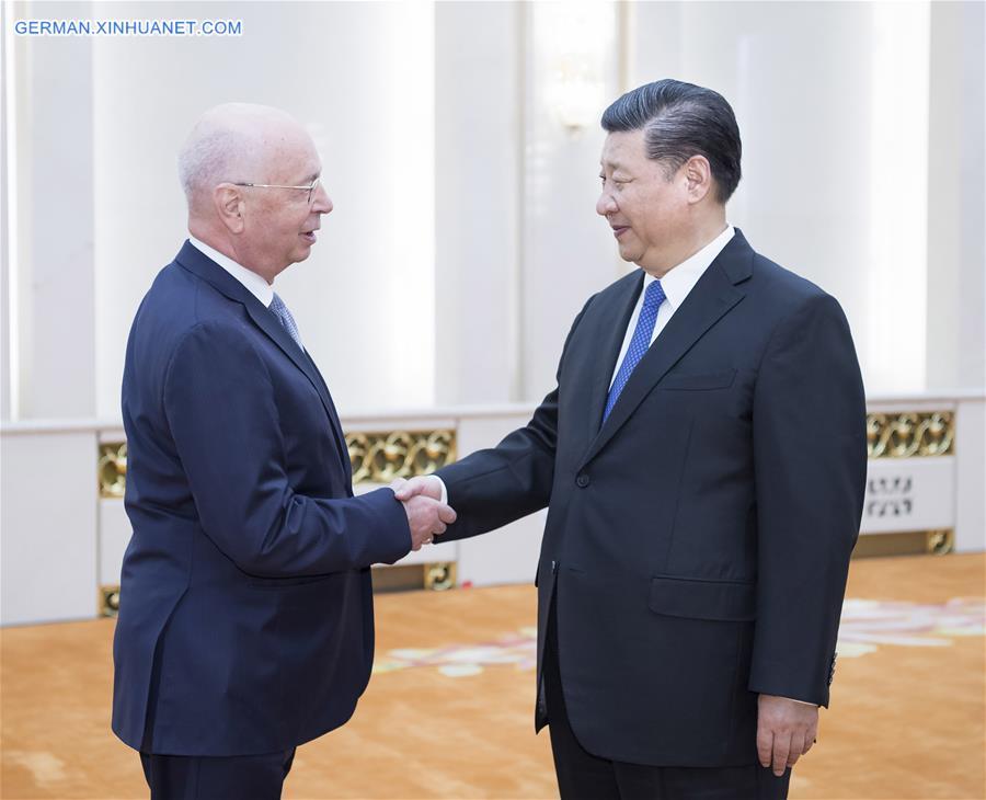 Xi Jinping trifft WEF-Präsident Klaus Schwab
