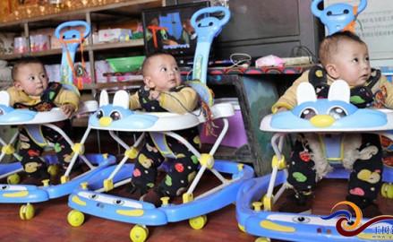 Yushu: Die Drillinge sind ein Jahr alt