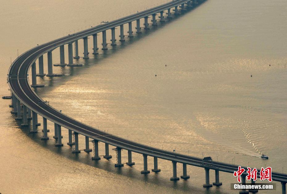 Schöne Brücke in China: Hongkong-Zhuhai-Macao Brücke