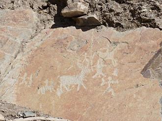 西藏中部发现跨三时期远古岩画