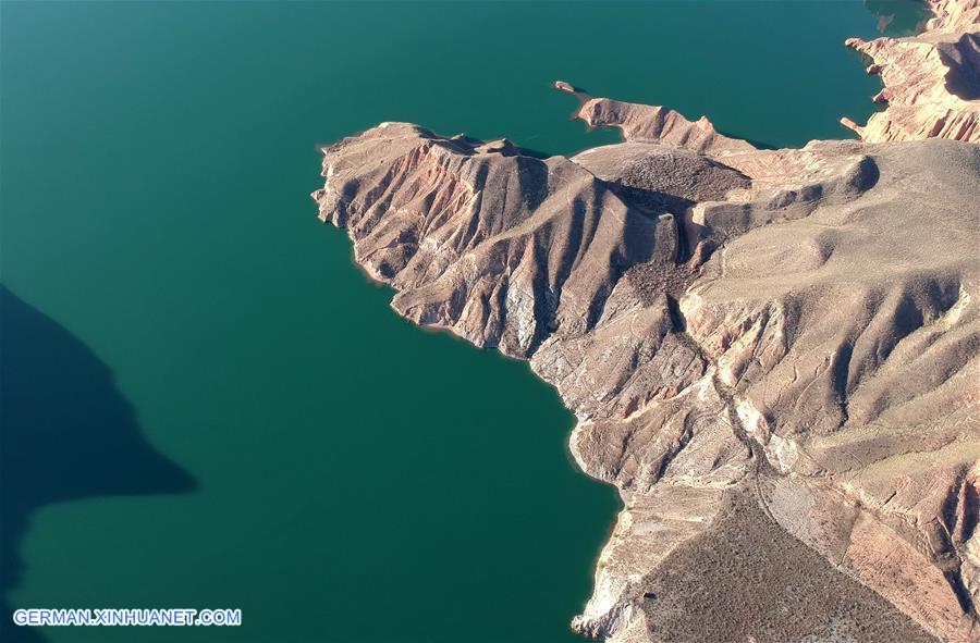 Nationalpark Kanbula in Qinghai von der Vogelperspektive