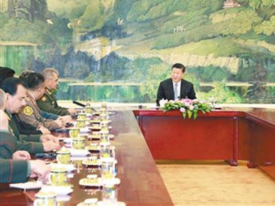 Xi Jinping trifft Verteidigungsminister der SCO-Mitgliedstaaten