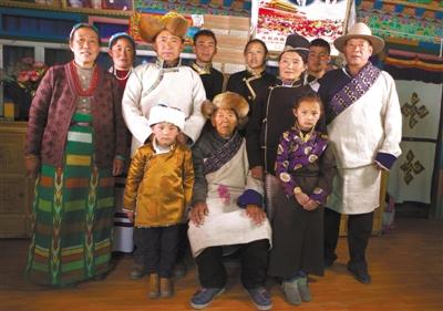 次仁群培:藏珞巴一家人