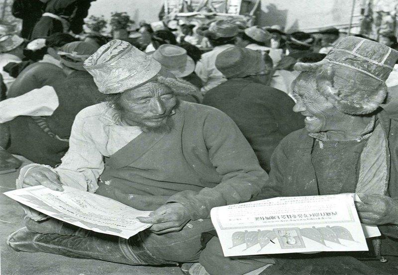 Vergleich alter und neuer Fotos Tibets