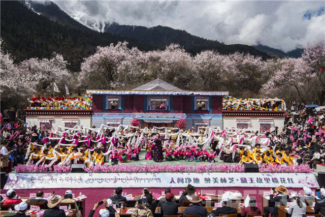 Peach flowers attract over 2 bln investment