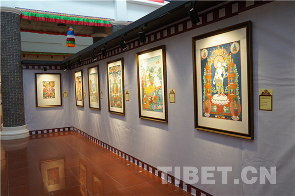 """Miansa School"" thangka painting exhibition tour starts"