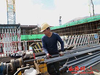 【重点项目建设】市人民医院迁建项目工地热火朝天