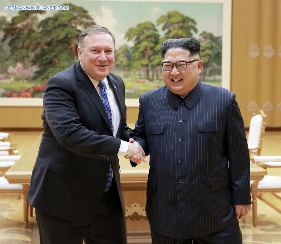 Kim Jong Un trifft US-Außenminister Mike Pompeo