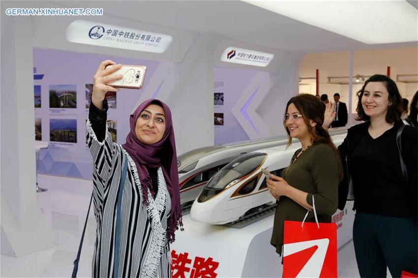 Ausstellung zu chinesischen Hochgeschwindigkeitszügen in Ankara abgehalten