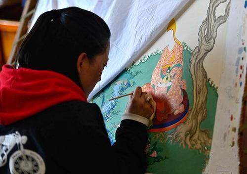 Thangka-Maler werden immer jünger