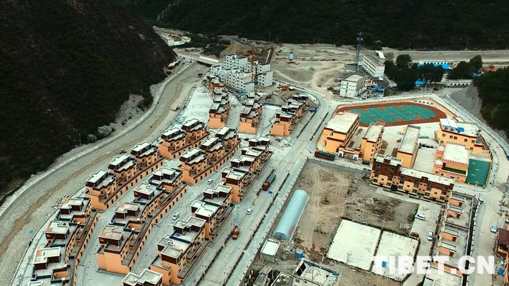 Luftaufnahmen des besonderen Städtchens Gamtog