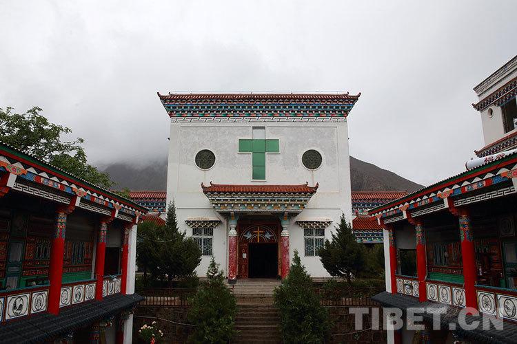Die einzige katholische Kirche in Tibet