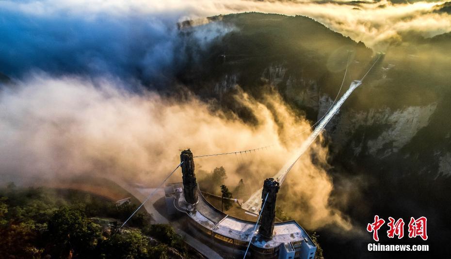 Canyon-Glasbrücke in Zhangjiajie mit Brücken-Nobelpreis ausgezeichnet