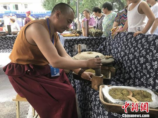 Ausstellung der Rangbala-Kultur in Mianyang