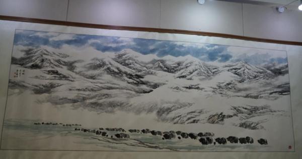 Chinesische Malerei auf tibetischem Papier