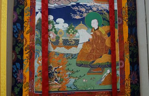 Ausstellung der Thangka der historischen Penchen Lama in Peking