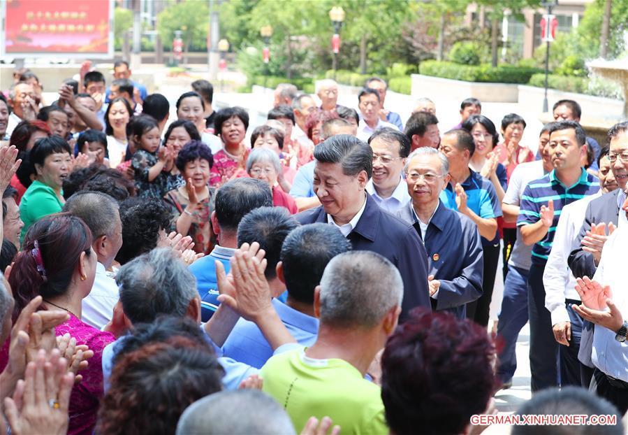 Xi Jinping führt Inspektionstour in Shandong durch