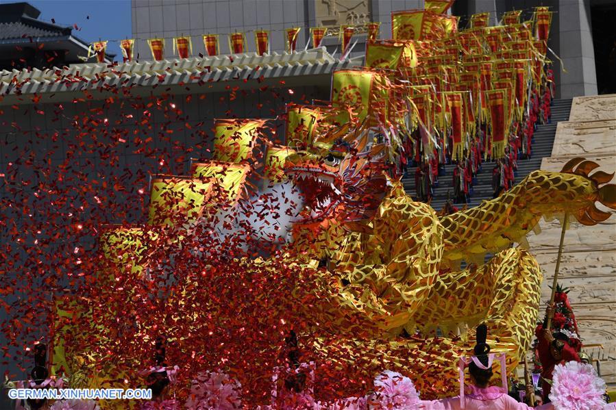 Große Zeremonie des Ahnenkults zu Ehren des Kaisers Yao in Nordchina abgehalten