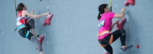 Sportlerin holt Gold bei Klettermeisterschaften
