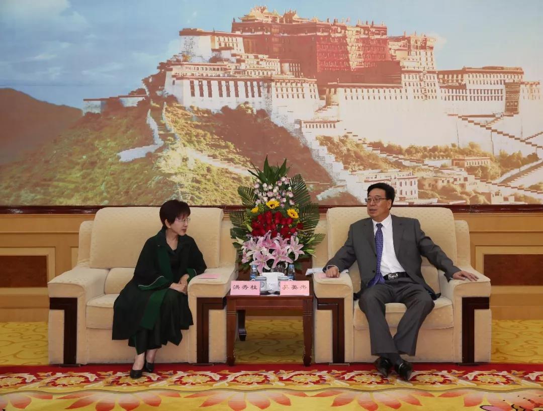 吴英杰与中国国民党前主席洪秀柱座谈