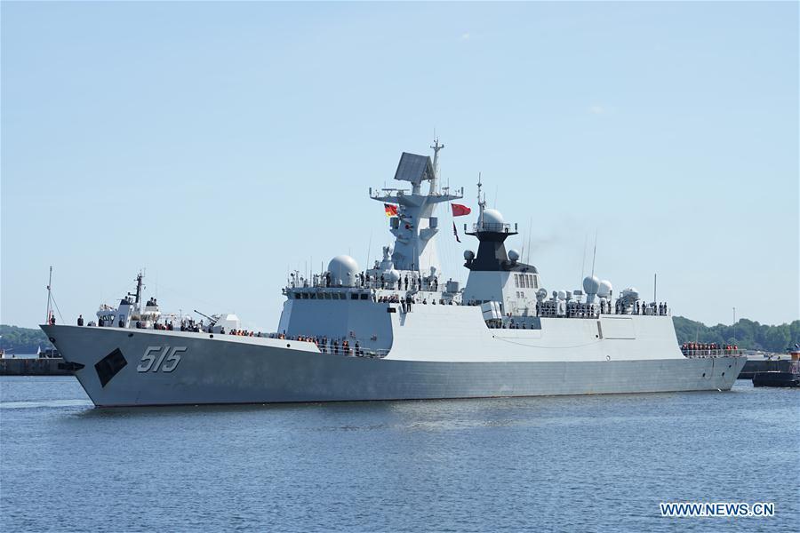 """Chinesische Fregatte """"Binzhou"""" besucht Militärhafen von Kiel"""
