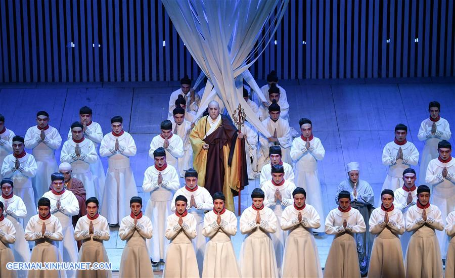 Oper über chinesischen Mönch Jianzhen in Xinbei aufgeführt