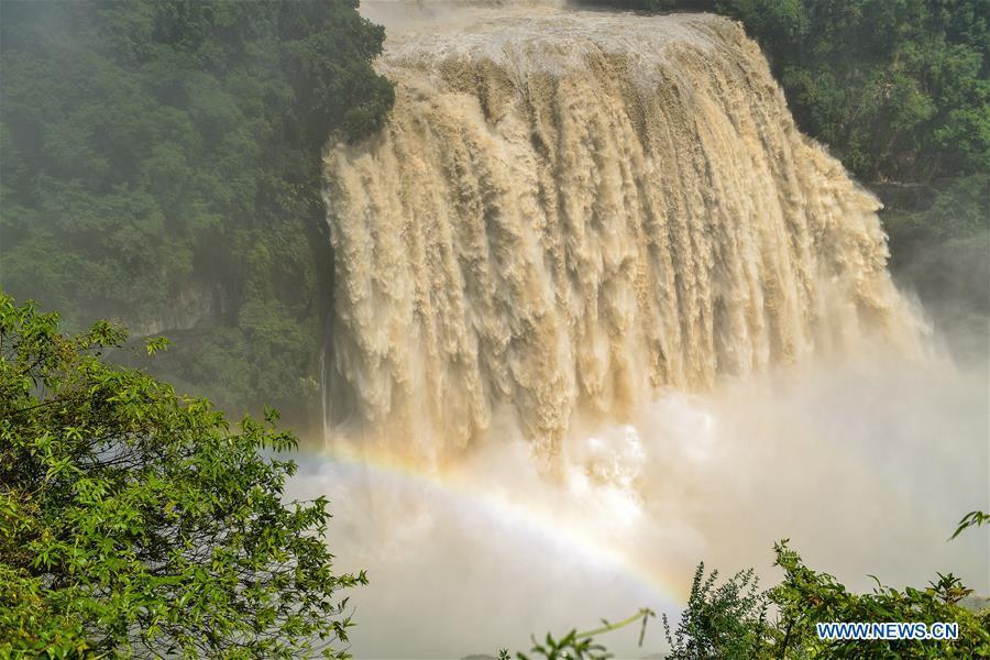 Prächtiger Huangguoshu-Wasserfall in Guizhou
