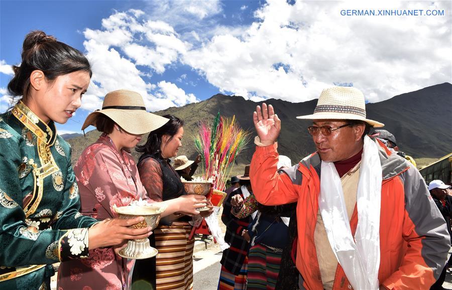 Umsiedlungsprogramm für Dorfbewohner zum Umweltzweck in Tibet durchgeführt