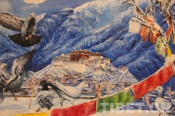 Künstlergesellschaft Lhasa veranstaltet Kunstausstellung