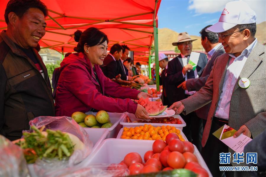"""Erntesaison des """"Gartensupermarkts"""" in Bainang Tibet beginnt"""