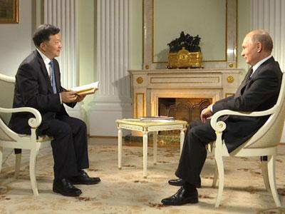 Putin gibt China Media Group Exklusivinterview