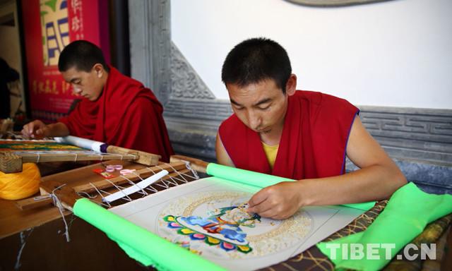 Tibeter-Qiang-Stickerei