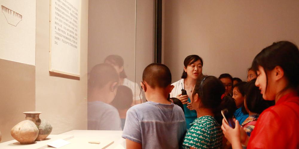 首都博物馆里体验藏文化