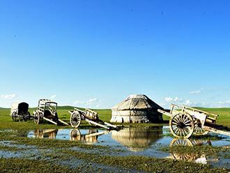 【新时代·幸福美丽新边疆】探访《狼图腾》拍摄地 锡林郭勒兵团小镇