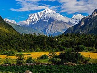 珠峰后花园吉隆沟 一景看四季