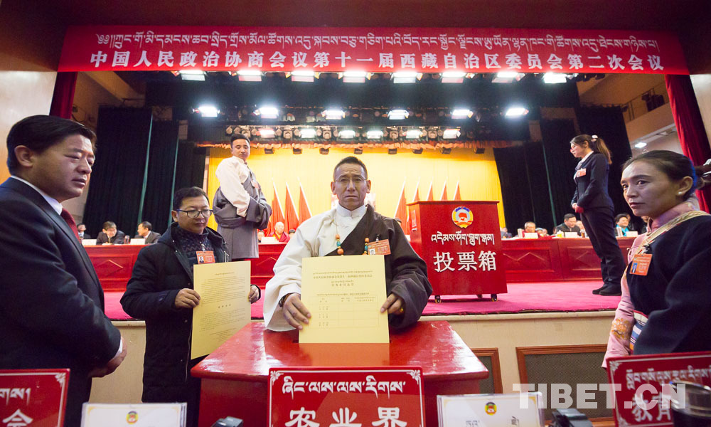 委员履职尽责,西藏自治区政协十一届二次会议举行选举大会