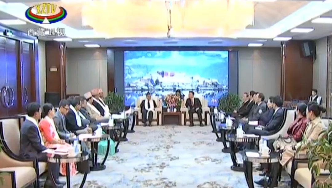 丁業現會見尼泊爾議員、學者代表團