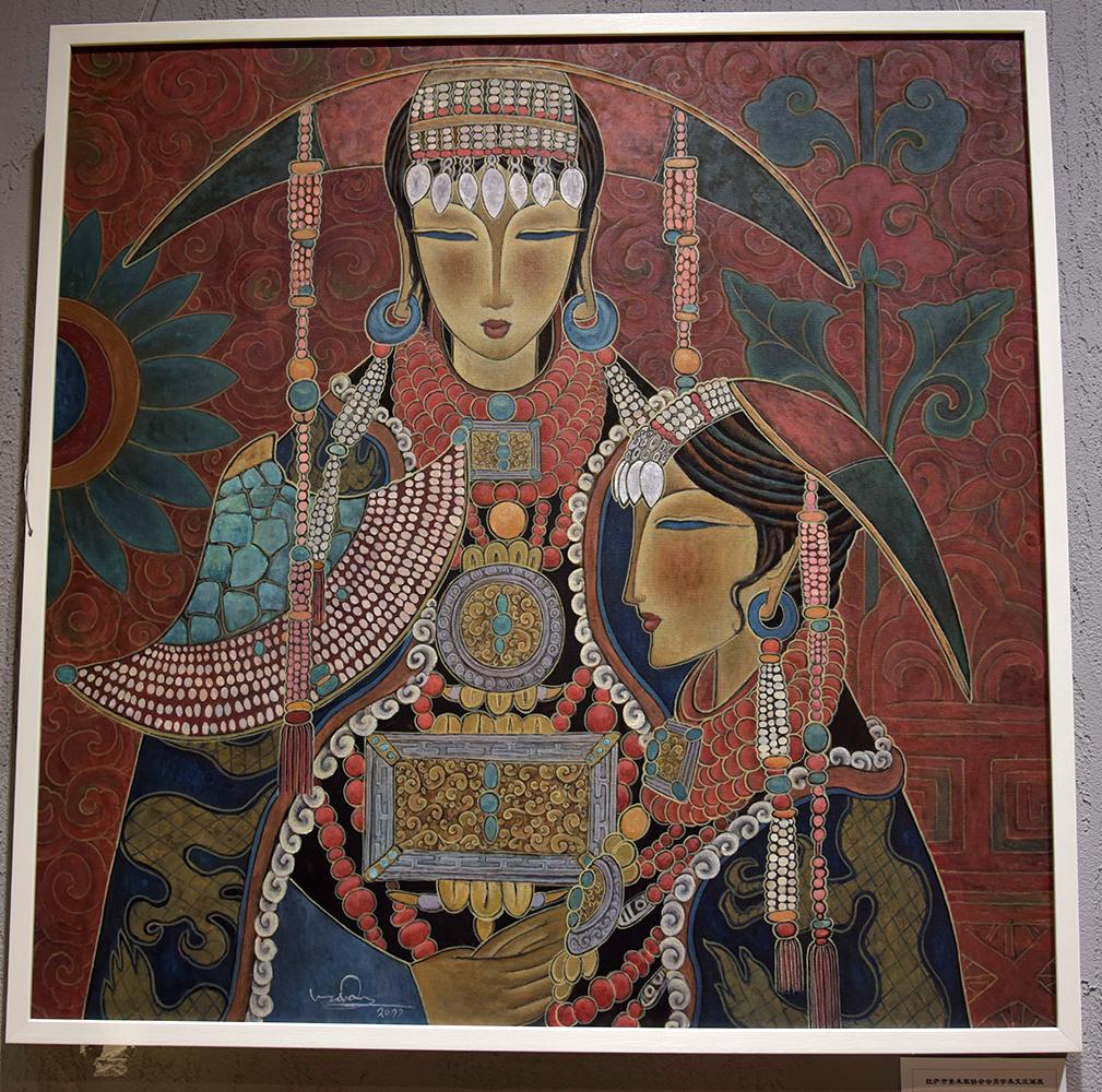 拉萨市美术家协会会员学术交流画展开展
