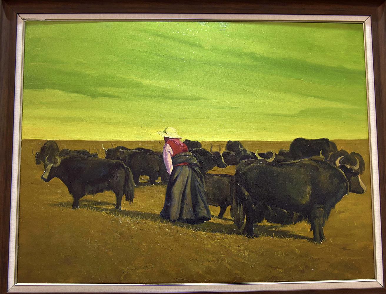 在油画作品中看见西藏