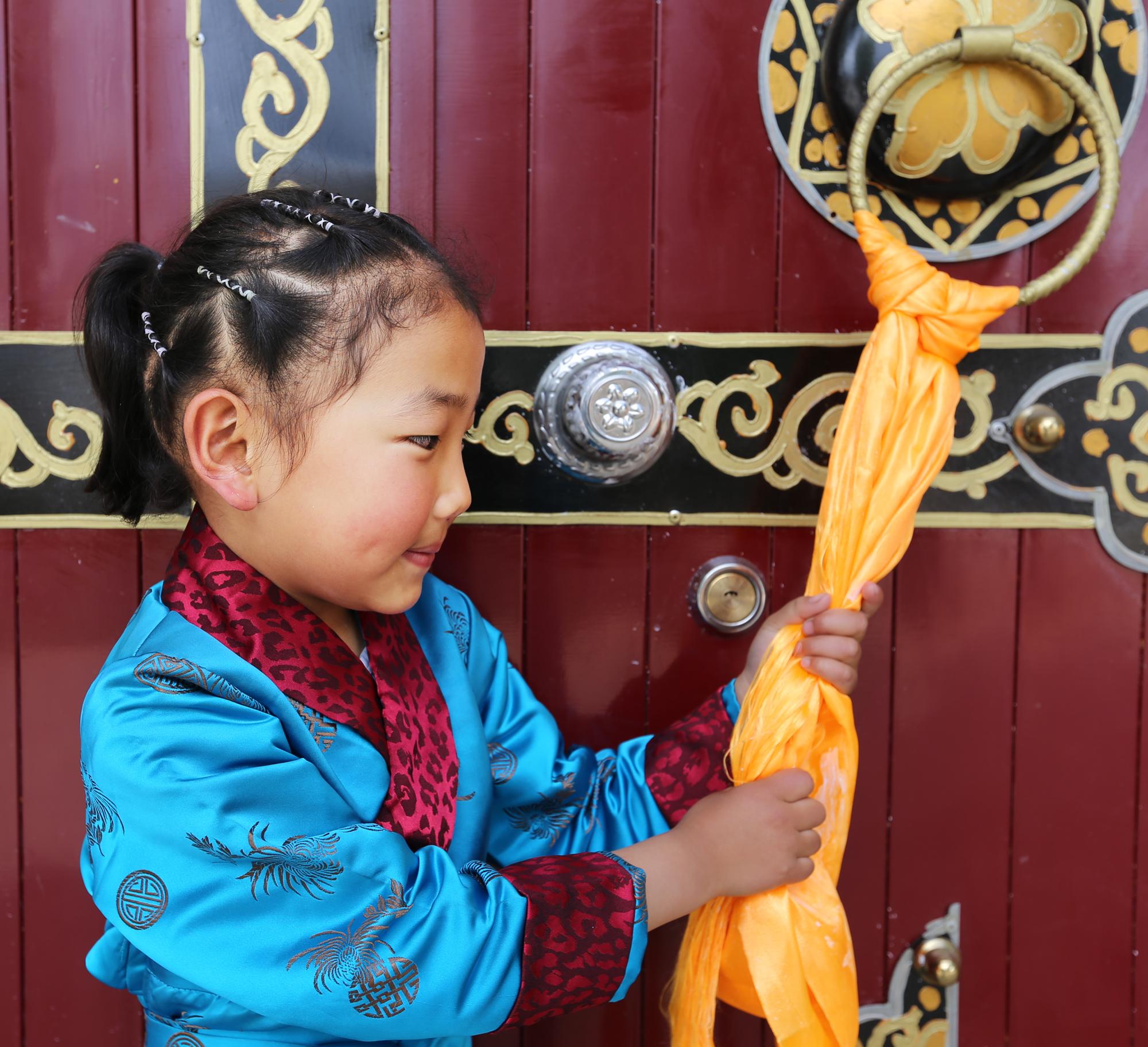 可爱的藏族小朋友