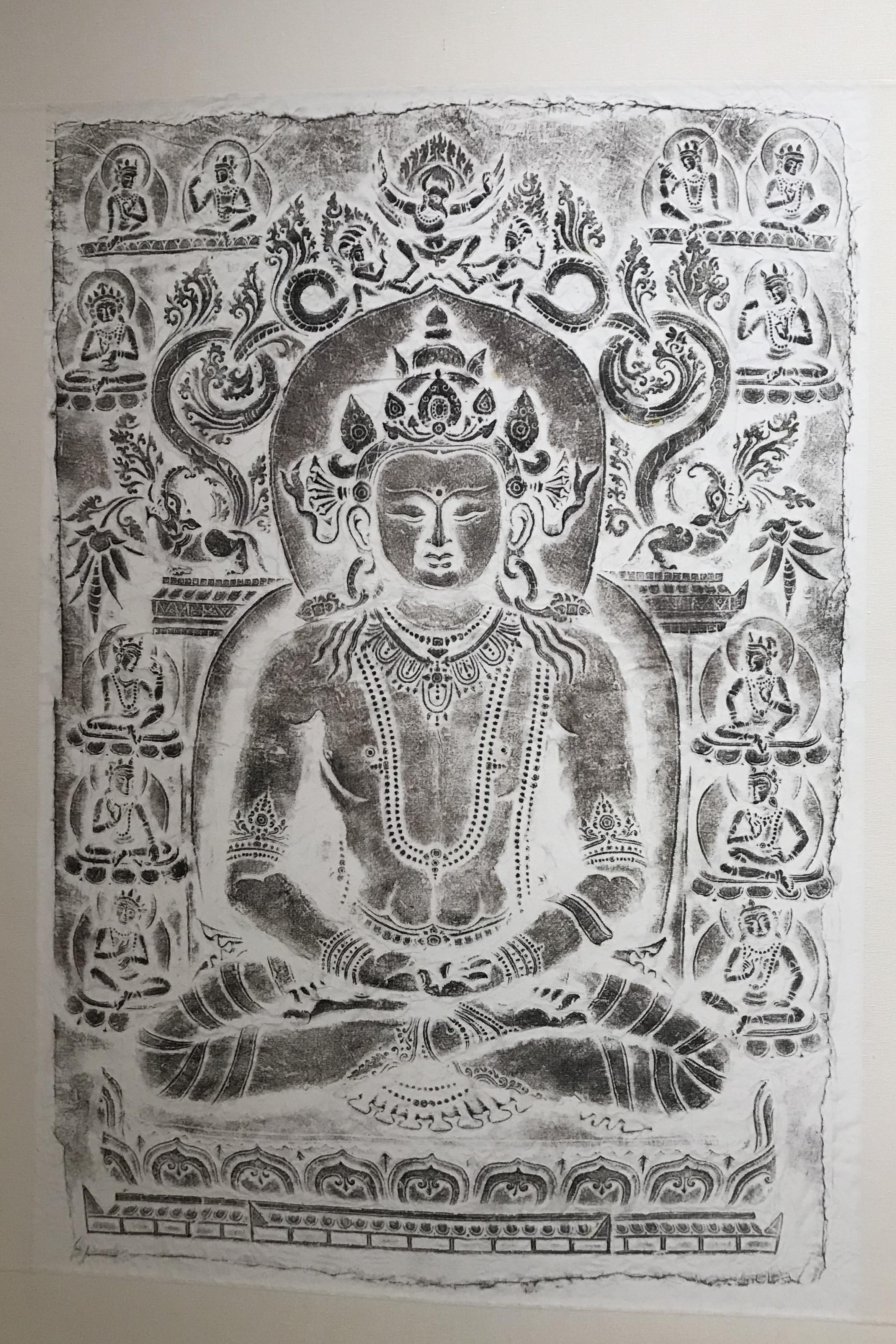 """高清原图:观""""一带一路""""涉藏金石拓片展赏14-19世纪佛教造像之美"""
