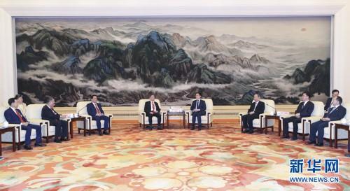 韓正會見香港福建社團聯會訪京團