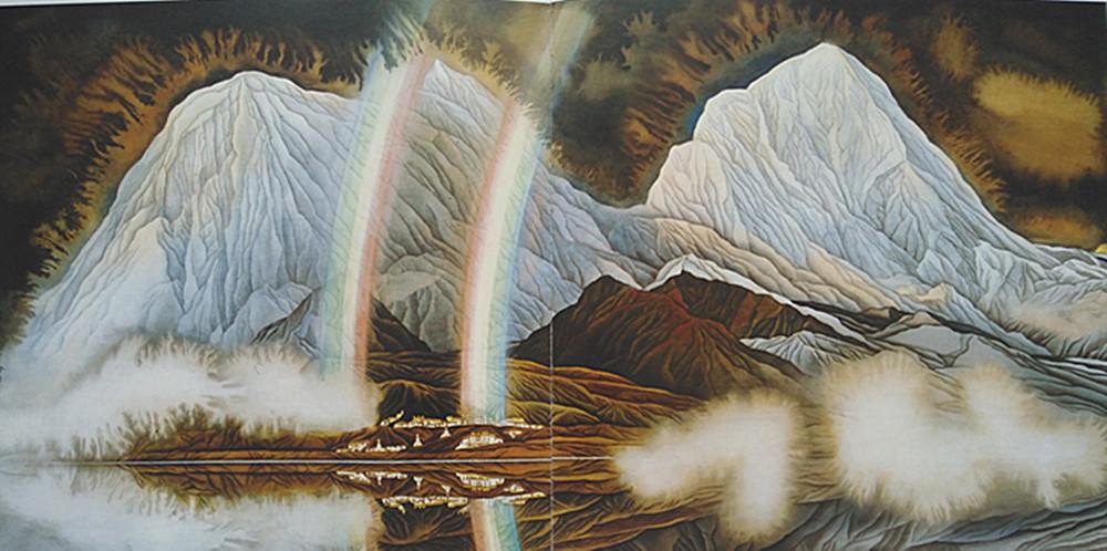 余友心:画笔下的雪域风景、精灵和神佛