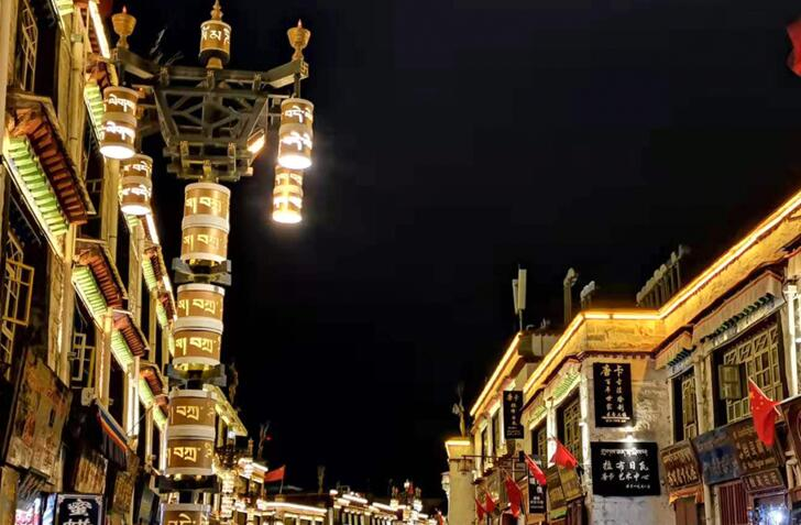【和美新西藏】西藏拉萨八廓街夜景