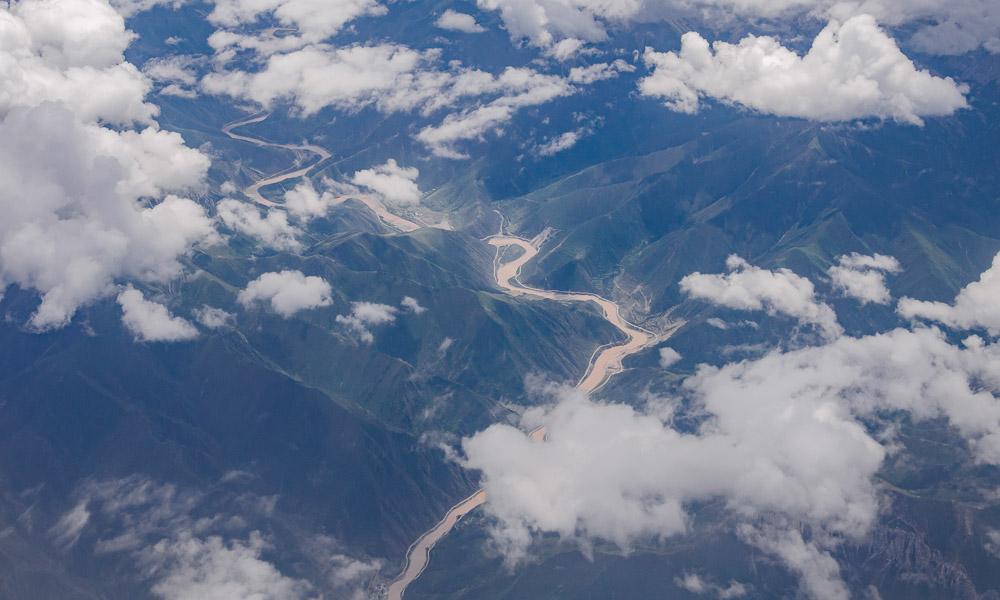鸟瞰青藏高原