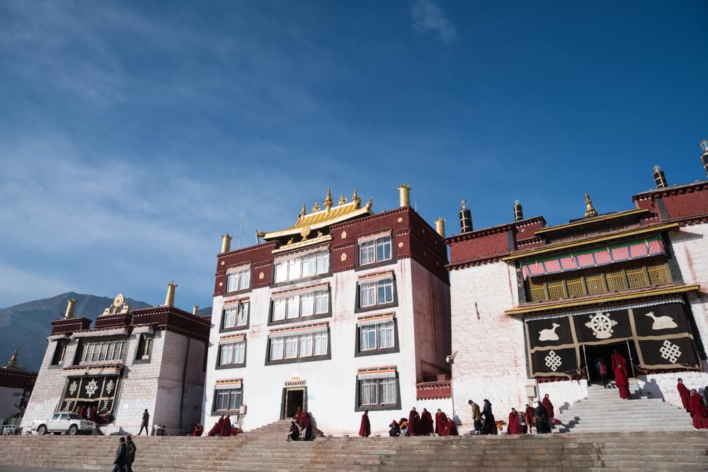 强巴林寺的精美坛城