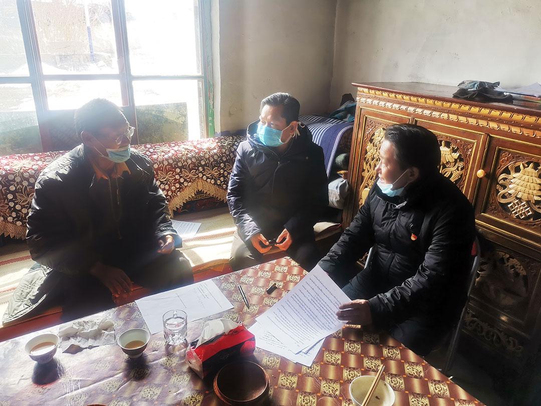 阿里地區政協副主席王海龍深入達巴寺督導檢查宗教領域各項工作